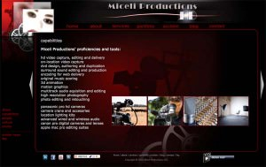 Miceli Productions website launch for 2010.