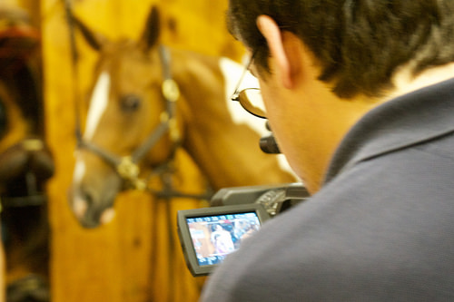 Brian Byrne on location at Baldwin Stables photo by Miceli Productions HD