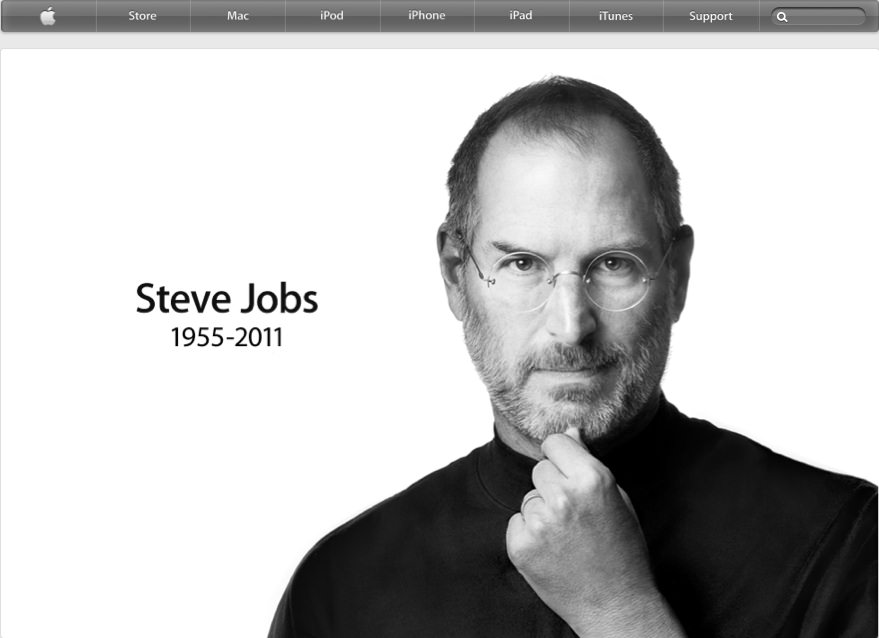 Steve Jobs on Apple Homepage