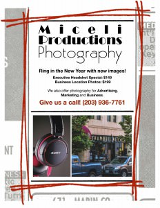 Flyer promoting photo specials for 2014 from Miceli Productions