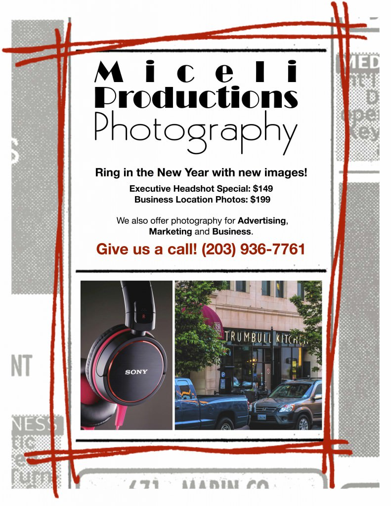 Flyer promoting photo specials for 2014 from Miceli Productions, business photo
