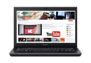 A laptop showing Miceli Productions YouTube Channel