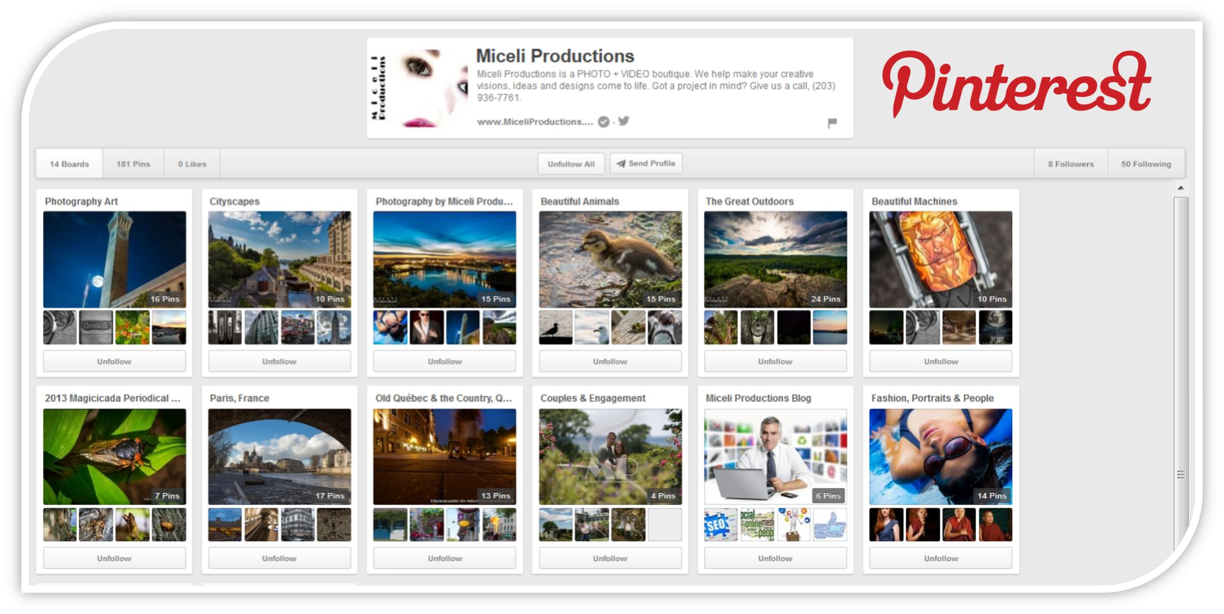 miceli productions Pinterest