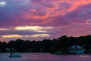 Sunset at Hitchcock Lake, Wolcott CT