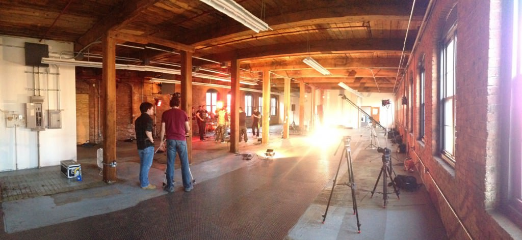 Video production company Miceli Productions filming a music video in Southington, CT