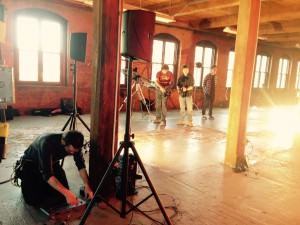 Video Productions Company Miceli Productions filming a music video on location in Hartford County, CT