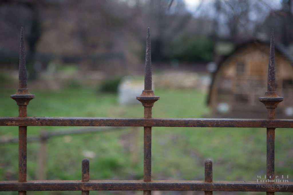 rust, metal fence, cemetery, paris, france, keep out