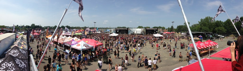 Overhead crowd photo by Miceli productions at the VANS Warped Tour 2015 in CT.