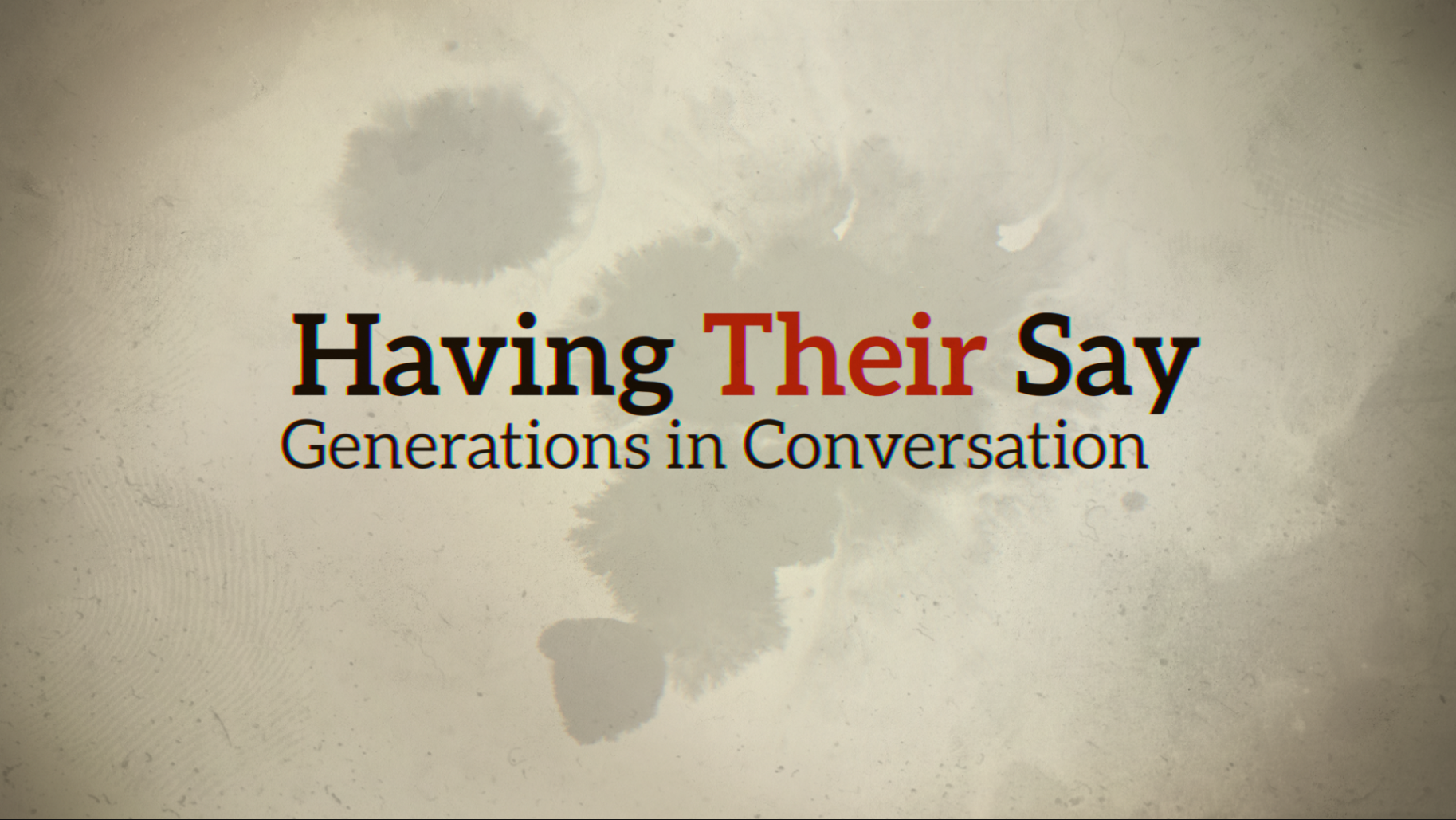 Having Their Say: Generations in Conversation, an oral history project filmed by Miceli Productions, initiated by Hartford Stage, inspired by the Delany Sisters.