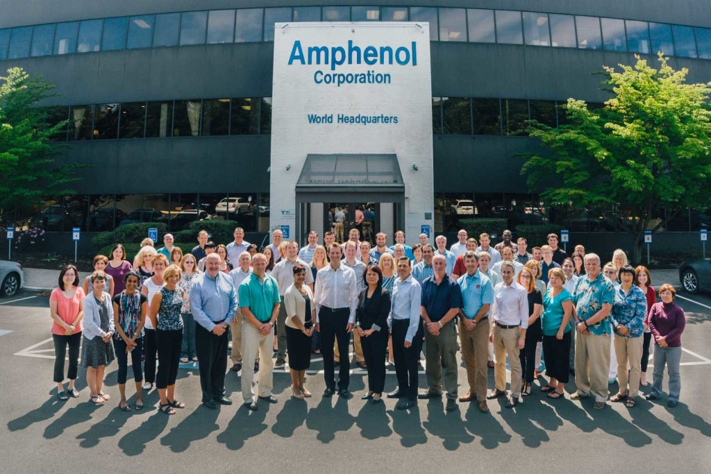 Amphenol HQ 2015. Group photo at Amphenol HQ, Wallingford CT. Photo by Miceli Productions PHOTO + VIDEO.
