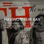 Title screen from the documentary video, Having Their Say: Generation in Conversation. Miceli Productions produced this documentary video in collaboration with Hartford Stage.