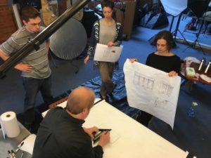 In the studio with Miceli Productions filming a live whiteboard product demo video.