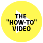 """The How To Video"" title with yellow 'play' button.  Miceli Production can advise on making your Hoe-To video."