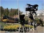 Cameras set up for outdoor on location filming.